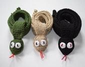 Snake Scarf - Animal Scarf- Kids Scarf - Adult Scarf - Crochet Scarf - Scarves - Snake Wrap - Ready to ship