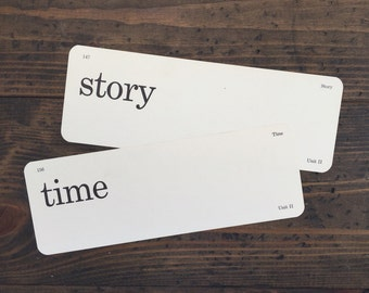vintage flash card pair • story time | Dick and Jane flashcards