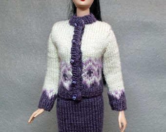 A Knitted Spring Suit for Barbie, Fashion Royalty, Momoko and similar dolls