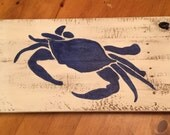 Blue Crab Maryland Crab Distressed Pallet Sign Plaque