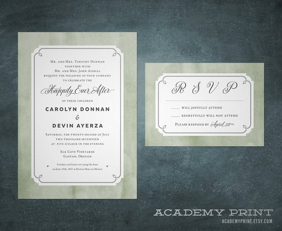 After The Wedding Party Invitations: Happily Ever After Invitation And RSVP Printable By