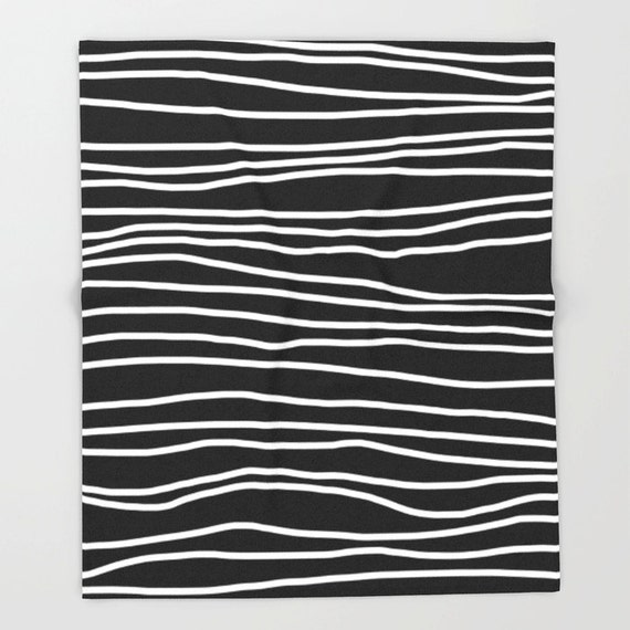 black and white soft fleece throw blanket by shelleyscrochetole. Black Bedroom Furniture Sets. Home Design Ideas