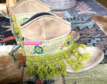Gypsy Cowgirl boho bootcovers, boot wraps, boot bling, bootcuffs - African jewelry-Bohemian jewelry-Statement jewels