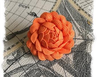 Rosette Lapel Pin ~ Orange ~