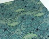 Yalke Green--Australian Aboriginal Fabric--Australian Fabric by the HALF YARD--Aboriginal Design--Quilt Fabric--Cotton Fabric