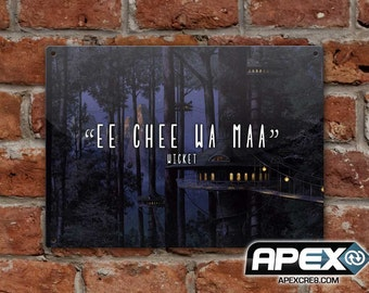 Ee Chee Wa Maa - Wicket the Ewok Quote – Star Wars Metal Sign