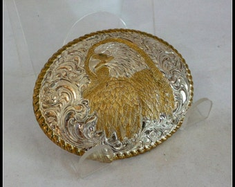 Vintage Eagle Head Belt Buckle