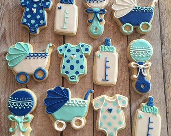 Boy Baby shower Cookie Assortment