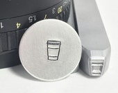 Togo Coffee Cup 6mm Metal Stamp
