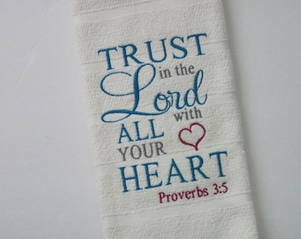 TRUST in the LORD Kitchen Towel