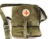 Soviet military medical field bag Russian Military first aid Medical First Aid Pouch 1960s