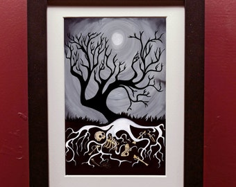 The Tree archival Print in 4 by 6 Inch Black Frame