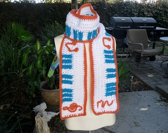 Crochet / Piano Key Scarf