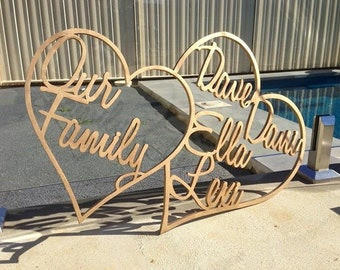 Our Family Handcrafted Hearts