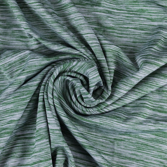 Green kelly space dye poly spandex performance knit fabric for Space dye knit fabric by the yard