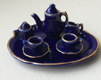 Cobalt Blue Tea Set #7