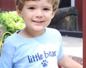 Blue little bear shirt