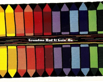 CROCHET Crayon Afghan PATTERN - Vintage Crochet Pattern - PDF Instant Download - Digital Pattern - Baby Blanket - 24 Crayons - Crayon Box