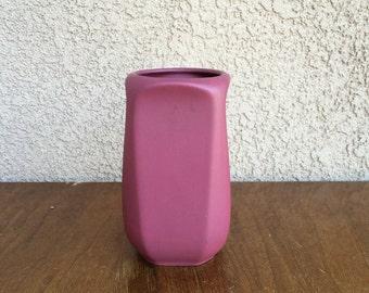 Vintage dusty rose vase
