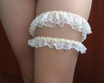 Ivory garters Wedding garter set garter belt bridal garter set garter wedding toss garter lace garter garter sets garters