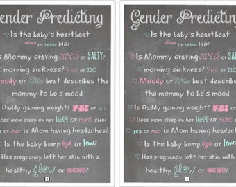 Gender Predicting Baby Shower Game