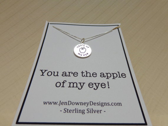 Sterling Silver You Are The Apple Of My Eye by