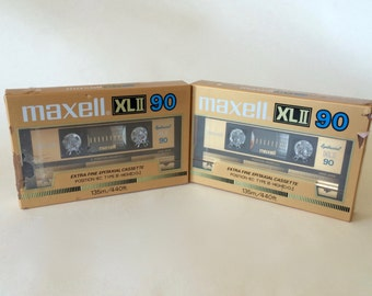 Reserved 4 Steve - NOS Maxell XL 90 Gold Cassette Tapes New Unused Blank Cassette Tape Extra Fine Epitaxial Cassette High Position Cassette