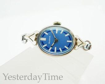 Bulova Laurel Women's Watch 1974 Rolled Gold Case Swiss Made Manual 17 Jewel Movement