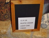 Solid cedar 11x14 size frame picture photo craft scrapbooking oak finish country rustic display