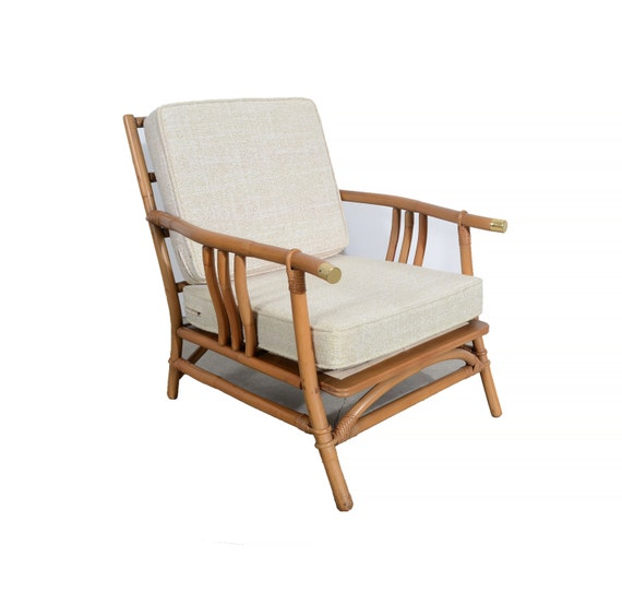 Bamboo Chair With Arms: Ficks Reed Arm Chair Bamboo And Rattan Mid Century