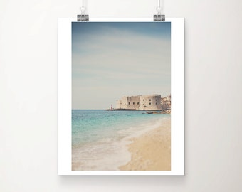 Dubrovnik photograph beach photograph Adriatic ocean photograph Dubrovnik print travel photography Croatia photograph travel print