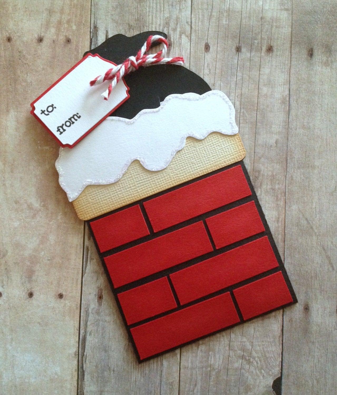 Christmas Gift Card Holder Santa Card Santa Chimney Gift