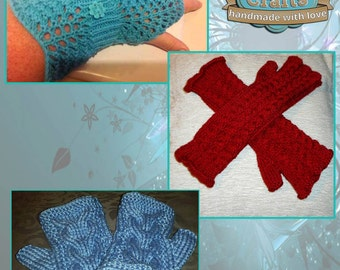 Hand knitted Ladies Wrist-warmers