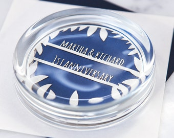 Personalised Papercut Paperweight - First Anniversary Gift - Paper Anniversary - Paper Cut Design - Office Gift - Gift for Mum - Wedding