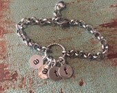 Initial chain link Mother bracelet