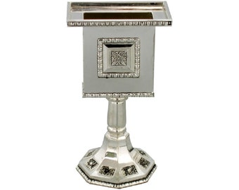 Judaica Havdalah Shabbat Candle Holder Nickel Plated Magen David Decorations