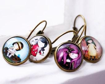 Little girl cabochon earrings