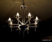 A View Above Photograph of a Southern Chandelier