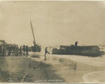 Ship wreck at Nome Beach Alaska antique photo by Eric A. Hegg