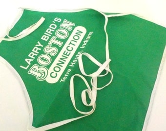Larry Bird, Boston Celtics, Apron from Larry Birds Boston Connection Terre Haute Indiana State, Sycamores