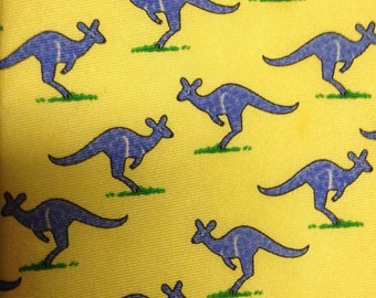 "Alynn ""Kangaroos"" Yellow Necktie"
