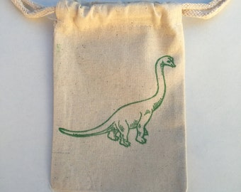 Dinosaur Favor Bags  / Set of 10 / Birthday Favor Bags