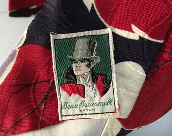 Beau Brummell 1940s Rayon Necktie