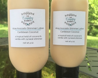 Coconut Lotion - Tropical Lotion - Aloe Body Lotion - Coconut Body Lotion - Aloe Vera Lotion - Coconut Fragrance  - Beach Lotion - Coconut