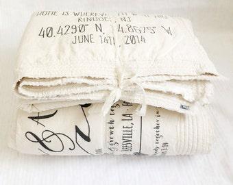gift for boyfriend, wedding gift blanket, valentine,  2nd anniversary blanket, cotton gift, gift for boyfriend, cotton blanket