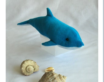 PDF pattern and  Instructions for sewing. Soft toy Dolphin.