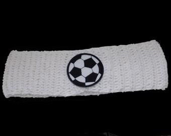 kids headband , crochet kids headband , white
