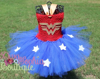 Wonder woman Tutu Dress/ Super hero Tutu Dress/ Costume