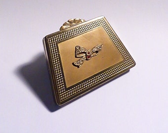 Vintage powder compacts bridesmaids gifts compact mirrors for sale PRINCESS novelty handbag / suitcase compacts