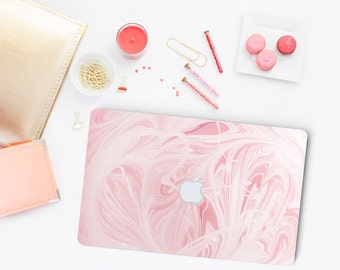 "Pink Marble Swirl Skin for Apple Macbook Air & Mac Pro Retina, New Macbook 12"" , Toshiba HP Dell Asus Acer Lenovo Samsung"